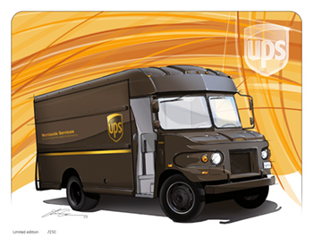 Etienne Carignan – New Automotive Illustrations ...Ups Delivery Truck Clipart