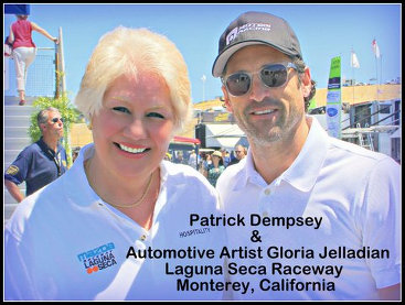 atrick Dempsey and Automotive Artist Gloria Jelladian