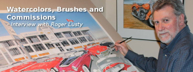 Watercolors, Brushes and Commissions - Roger Lusty