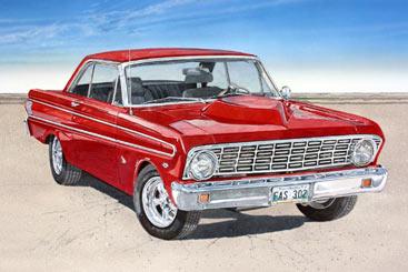 New Watercolor – 1964 Ford Falcon – AutomotiveArtists com