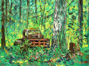 Ford Truck in the woods