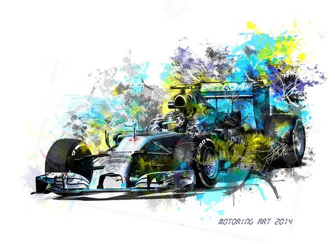 Mercedes AMG W05 Rosberg 2014