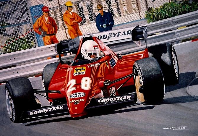 Rene Arnoux Grand Prix de Monaco 1983