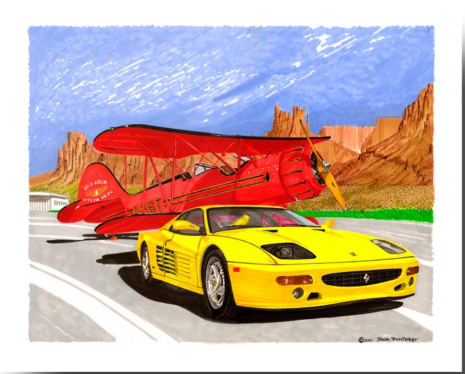1995 Ferrari 512 and 1935 Waco
