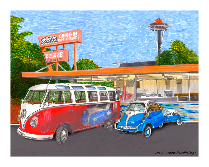 Dick's Drive-In Volkswagon and Istta